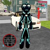 Neon Iron Stickman icon