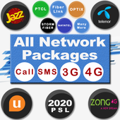 All Network Packages 2020 (Jazz Zong Ufone Telenr) icon