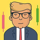 Shares & Forex Investing simulator - Trading Game icon