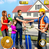 New Family House Builder Happy Family Simulator icon