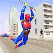 Grand Flying Robot Rope Hero icon
