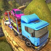 Offroad Transporter Car Trailer Parking Drive icon