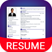 Resume Builder App Free CV maker CV templates 2020 icon
