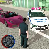 US Police Crime Rope Hero icon