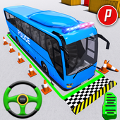 Police Bus Parking Game 3D - Police Bus Games 2019 icon
