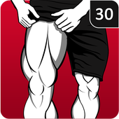 Leg Workout for Men - Thigh, Muscle Fitness 30 Day icon