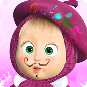 Masha and the Bear: Free Coloring Pages for Kids icon