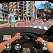 Passenger Taxi Car City Rush Driving icon