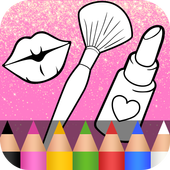 Glitter Beauty Coloring Book ❤ icon