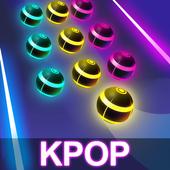 KPOP Road: BTS Magic Dancing Balls Tiles Game 2019 icon