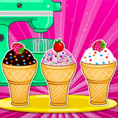 Cooking Ice Cream Cone Cupcake icon