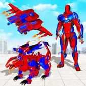 Army Tank Transform Robot Battle Tank: Lion Games icon