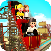 Roller Coaster Craft: Blocky Building & RCT Games icon