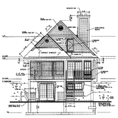 Architecture House Drawing icon