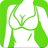 Beautiful breast workout icon
