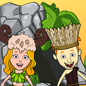 My Dinosaur Town - Jurassic Caveman Games for Kids icon