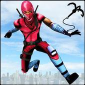 Flying Robot Ninja Rope Hero: Gangster Crime City icon