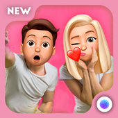 3D Emoji Face Camera  | Sweet Emoji Head Stickers icon
