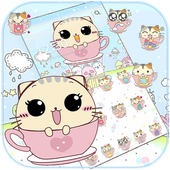 Kitty Love Cup Cat Theme icon