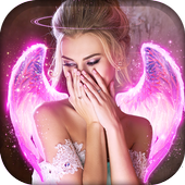 👼Glitter Neon Angel Wings Photo Effects Editor👼 icon