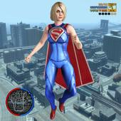 Amazin Super Girl Rope Hero -Girl strange war hero icon