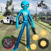 New Spider Stickman Rope Hero Shooting Crime 2020 icon