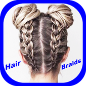 Simple braids of hair 2020 African braids icon
