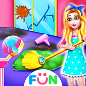 Girls Hair Salon House Tidy Up – Kids Cleen Games icon