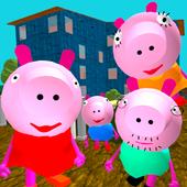 Piggy Neighbor. Family Escape icon