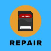 SD Card fix repair icon