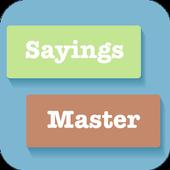 Learn English Vocabulary & Sayings- Sayings Master icon