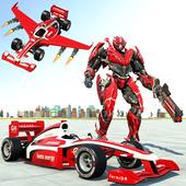 Flying Car Transform Robot Games : Formula Robot icon