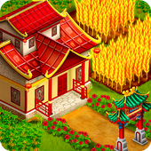 Asian Town Farm : Offline Village Farming Game icon