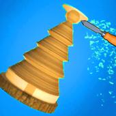 Spiral wood roll 3D - Carpenter Master icon