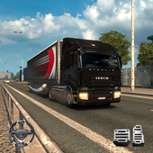 Heavy Truck Driver Transport Cargo 3D icon