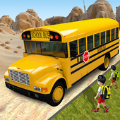 Offroad School Bus Driving: Flying Bus Games 2020 icon