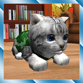 Cute Pocket Cat 3D icon