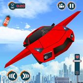 Flying Car Games 2020- Drive Robot Shooting Cars icon