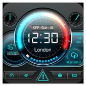 weather information time widget icon