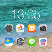 OS12 launcher theme &wallpaper icon
