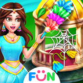 Princess House Clean Up – Girls Cleaning Game icon