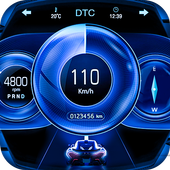 GPS Speedometer: Car Dashboard OBD2 Speed Limit icon