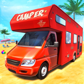 Real Camper Van Driving Simulator - Beach Resort icon