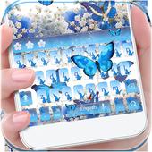 Blue Butterfly Keyboard Theme icon