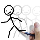 Stickman: draw animation, creator & maker, drawing icon