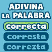 Guess the correct word in Spanish free icon