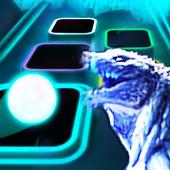 Godzilla Theme Song Tiles Neon Jump icon