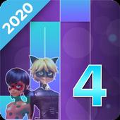 """Piano Tiles """"Ladybug - Noir"""" Game 2020 icon"""