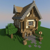 make a minicraft house icon