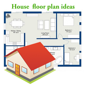 House floor plan ideas icon
